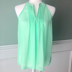 Beautiful mint green sheer top